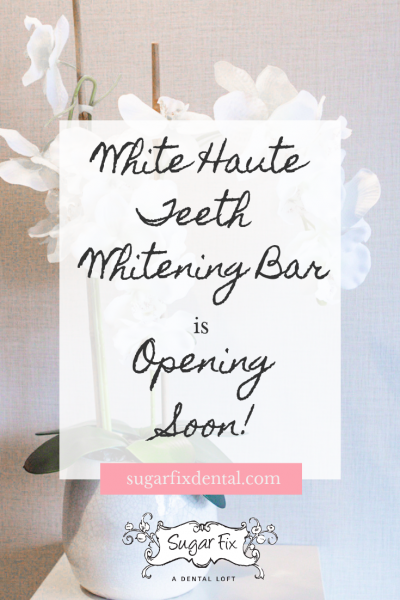 White Haute Teeth Whitening Bar